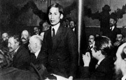 Ông Nguyễn Tất Thành (HCM) tại Pháp năm 1920. AFP photo