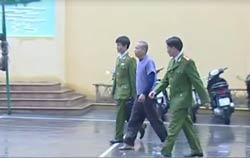 Ông Đoàn Văn Vươn trong trại giam công an Hải Phòng.