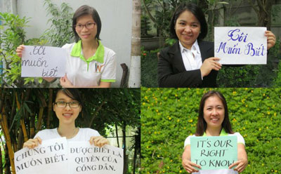 Một số bạn trẻ với dòng chữ 'Tôi muốn biết' được post lên mạng xã hội hôm 02/9/2014.