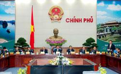 Phiên họp thường kỳ của Chính phủ tổ chức ngày 28/2 tại Hà Nội. Courtesy chinhphu.vn