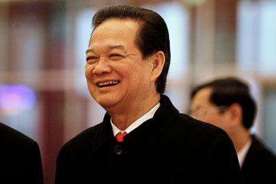 Thủ tướng Việt Nam Nguyễn Tấn Dũng trong ngày cuối đại hội đảng, 28/1/2016. AFP photo