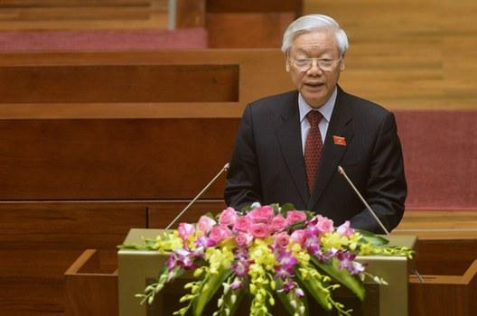 Tổng Bí thư Nguyễn Phú Trọng tại kỳ họp đầu tiên quốc hội khóa 14 hôm 20/7/2016. (ảnh minh họa)