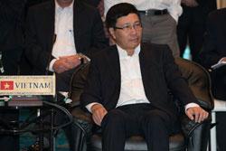 Bộ trưởng Ngoại giao Việt Nam Phạm Bình Minh tham dự hội nghị bộ trưởng ASEAN tại Thái Lan ngày 14/8/2013. AFP photo