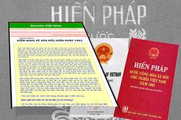 Kiến nghị về sửa đổi Hiến pháp 1992. Files photos