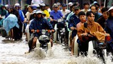 Mưa ngập sau một trận mưa lớn ở Việt Nam.