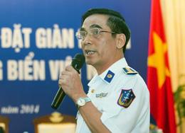 Phó tư lệnh tham mưu trưởng Bộ tư lệnh CSBVN Ngô Ngọc Thu trình bày về vụ tàu TQ đâm tàu Việt Nam trong cuộc họp báo ở Hà Nội hôm 07/05/201. Ông cũng nhấn mạnh, mọi sự chịu đựng đều có giới hạn nếu tiếp tục bị tấn công lực lượng Việt Nam sẽ đáp trả để tự vệ. AFP