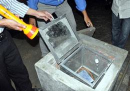 Máy đo gia tốc hiện đặt tại thủy điện Sông Tranh 2 không có chức năng đo động đất. Ảnh: Tấn Hưng/laodong.com