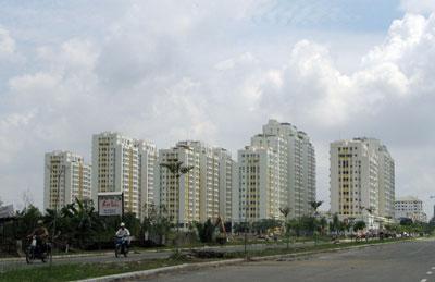 Khu chung cư Phú Mỹ Hưng tại thành phố Hồ Chí Minh. AFP photo