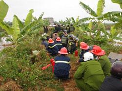 Cảnh cưỡng chế đất tại Tiễn Lãng tháng 1/2012