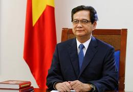 Thủ Tướng Nguyễn Tấn Dũng đọc thông điệp đầu năm 2014. Photo: VGP/Nhật Bắc/chinhphu.vn