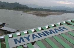 Phần sông Mêkông trong địa phận Miến Điện. RFA PHOTO.