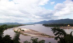 Dòng Mêkông ở địa phận Thái Lan. RFA Photo.