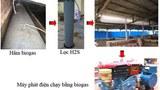 Hệ thống máy phát điện chạy bằng biogas.
