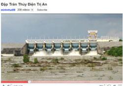 Nhà máy thủy điện Trị An được xây dựng trên sông Đồng Nai. Screen captured.