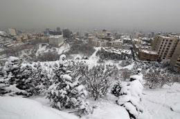 Bão tuyết ở Iran hồi đầu tháng Hai, 2014. AFP