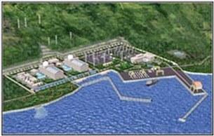 Mô hình nhà máy điện hạt nhân ở Ninh Thuận. RFA file