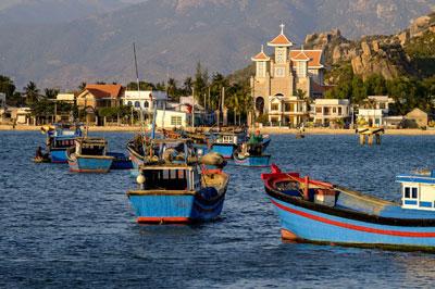Cảng cá tại Phan Rang, tỉnh Ninh Thuận, Việt Nam. AFP photo