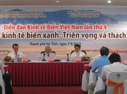 Diễn đàn kinh tế biển Việt Nam lần thứ 4 với chủ đề Phát triển kinh tế biển xanh: Triển vọng và thách thức. Hình ảnh: ThS.Đỗ Ngọc Vinh