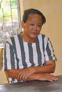 Ông Phan Văn Thu, tức Trần Công, một thành viên xây dựng khu du lịch sinh thái Núi Đá Bia tại ngoại ô thành phố Tuy Hòa, tỉnh Phú Yên, bị công an bắt hôm 5/2/2012. File photo.