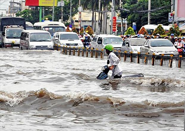 Image result for ngập lụt đường tp hồ chí minh