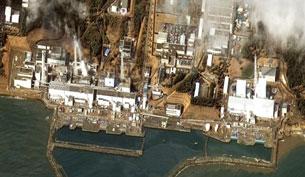 Nhà máy hạt nhân Fukushima.