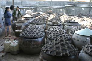 Làng nghề sản xuất nước mắm lâu đời ở Phan Thiết. RFA