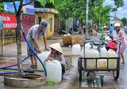 Nghề bán nước sạch. (nld)