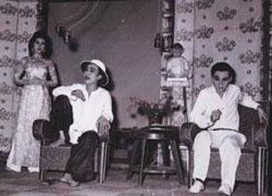 Từ trái sang: Thanh Nga - Hữu Phước - Thành Được trong vở Con Gái Chị Hằng.