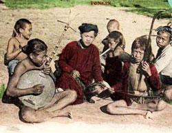 Gánh hát rong nghèo ở miền Bắc Việt Nam, thập niên 1930-1940. File photo.
