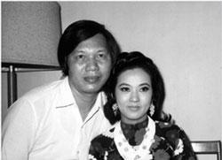 Nữ nghệ sĩ Thanh Nga và chồng Phạm Duy Lân. File photo.