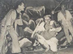 Vở cải lương Máu nhuộm sân chùa do đoàn cải lương Kim Chung 5 trình diễn. File photo.