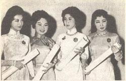 Các nghệ sĩ đoạt giải Thanh Tâm (từ trái sang):Thanh Nga, Ngọc Giàu, Lan Chi, Bích Sơn. File photo.