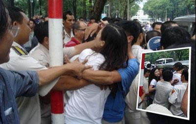 Chị Huỳnh Thục Vy nhiều lần bị công an bắt bớ, sách nhiễu, hăm dọa....