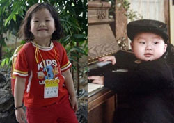 Hai đứa con nhỏ của cô Phương. Photo courtesy of 24h.com