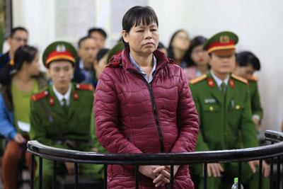 Bà Cấn Thị Thêu tại tòa phúc thẩm ở Hà Nội hôm 30/11/2016.
