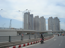 Một khu đô thị mới ở quận 4 TPHCM chụp tháng 2/2011. RFA photo