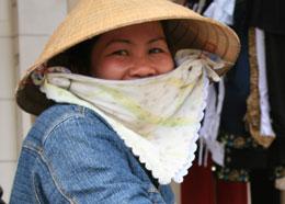 Một phụ nữ miền quê. RFA