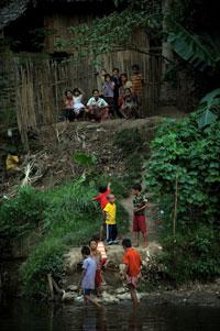 Một nơi sống tạm của người tị nạn tại Thái Lan. AFP photo