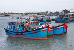 Tàu đánh cá của ngư dân cảng cá Kỳ Hà, Quảng Nam. RFA photo