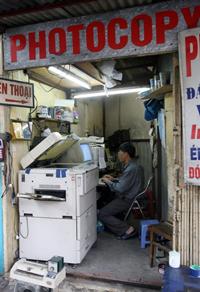 Một cửa hàng Photocopy ở Hà Nội năm 2008. AFP photo
