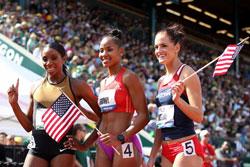 Ba vận động viên nữ Hoa Kỳ sẽ tham dự Olympic 2012. AFP photo
