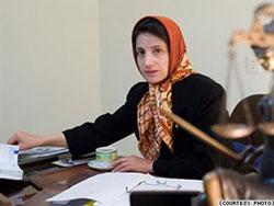 Luật sư Nasrin Soutoudeh. Photo courtesy of nobelwomensinitiative.org