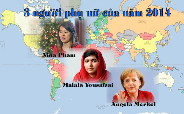 3 phụ nữ tiêu biểu của năm 2014