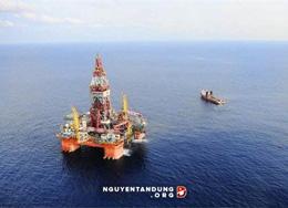 Giàn khoan Hải Dương - 981 của Trung Quốc trong vùng đặc quyền kinh tế của Việt nam.