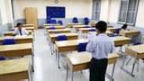 Phòng thi môn sử chỉ có hai thí sinh tại HĐT trường THPT Nguyễn Thị Minh Khai Q3, TP.HCM chiều 2-6