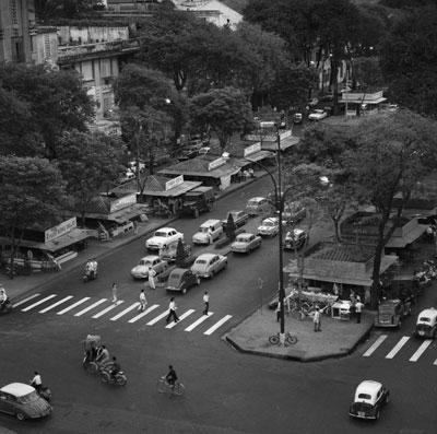 Trung tâm thành phố Sài Gòn chụp tháng 12/1963.