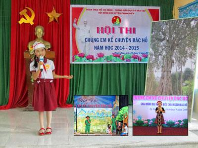 Thiếu nhi thường xuyên được nhắc nhở đến Hồ Chí Minh