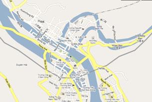 Bản đồ Google co thấy một phần diện tích của Tỉnh Lào Cao nằm bên trong lãnh thổ Trung Quốc (đường biên giới là đường màu đen). RFA Photo from Google Map.