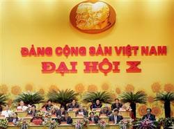 Đại hội đảng CSVN lần X tại Hà Nội. AFP PHOTO.