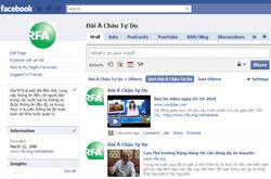 Trang Facebook của Đài Á Châu Tự Do. RFA PHOTO.